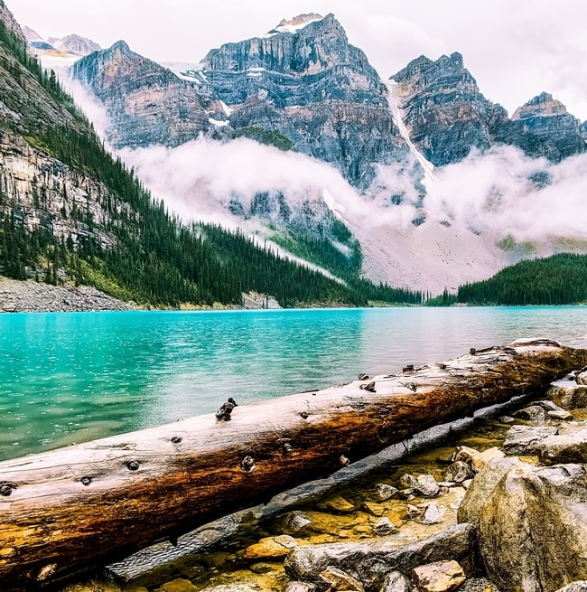 Study in Canada mountain and lake